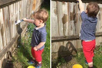 Красить забор