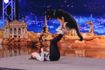 Пес и его юная хозяйка вместе творят чудеса