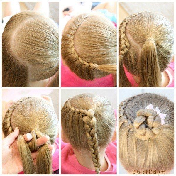 Детские причёски пошагово с фото