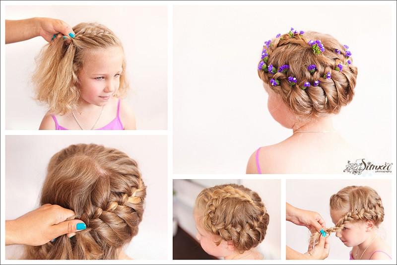 Прически для длинных волос своими руками для детей 30