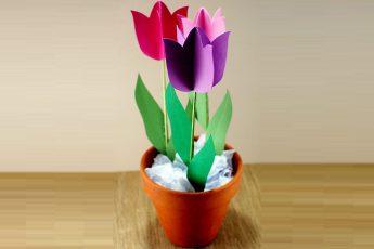 Подарок маме: тюльпаны своими руками