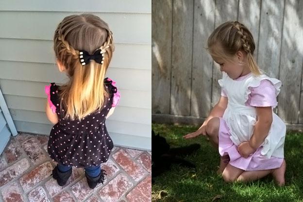 Прически девочке в сад