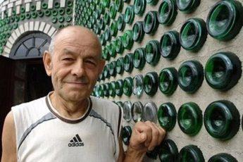 20 лет и 8 000 бутылок из под шампанского и посмотрите, что у него получилось!