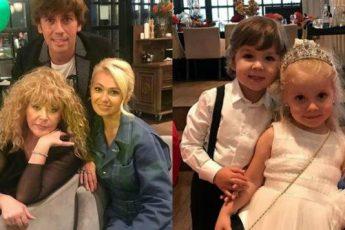Алла Пугачева с шикарным размахом отпраздновала 4-летие деток Гарри и Лизы